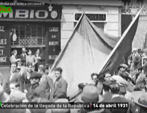 Celebracion llegada de la Republica